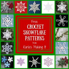 Free Crochet Snowflake Patterns from Karla's Making It