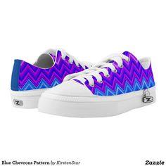 Blue Chevrons Pattern Printed Shoes
