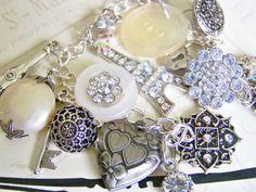 Paris Love Locket Bracelet by MMVintageSweets on Etsy, $21.00