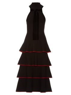 PROENZA SCHOULER Contrast-Edge Tiered Knit Dress. #proenzaschouler #cloth #dress