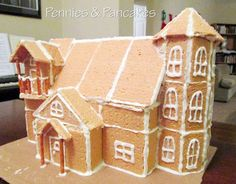 """Gingerbread House """"Glue"""" ** ONLY TWO INGREDIENTS!!  We used this for the first time this year, and it was AMAZING!"""