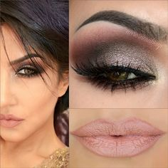Dramatic Smokey Eyes in Burgundy & Taupe