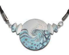 Blue pendant Sky blue necklace Light blue by BrightJewelryLIXORI