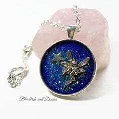 Midnight Fairy Necklace by Bluebirdsanddaisies on Etsy