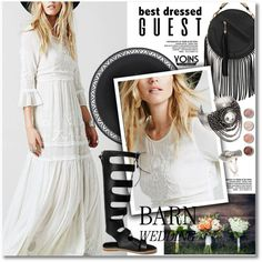 Best Dressed Guest: Barn Weddings by svijetlana on Polyvore featuring Terre Mère, polyvoreeditorial, bestdressedguest and barnwedding