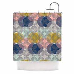 "Maike Thoma ""Retro Spring"" Blue Pink Shower Curtain"