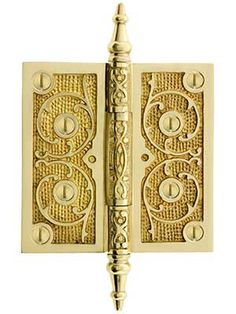 """Antique French Louis XV Cabinet Door Key Plate Cover  Bronze 5/"""" L X 3 3//8/"""" W"""