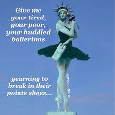 Statue of Balletberty -  ballet ballerina bunhead dance dancer pointe enpointe pointe shoes edit meme funny humor