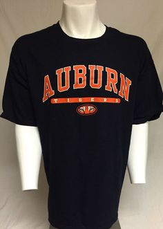 Auburn Tigers Blue Orange XXL Short Sleeve Tee T-Shirt 2XL #AuburnTigers