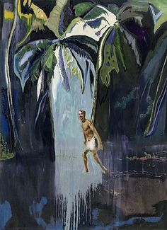Pelican (Stag) Peter Doig 2003 Oil on canvas 276 x 200.5 cm Courtesy Michael Werner Gallery, New York and London  Photo Mark Woods