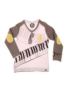 Mini Shatsu - Keyboardist Raglan Long Sleeve Shirt