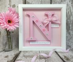 Personalised Girls Gift Frame - Everything For Babies Baby Girl Presents, Baby Girl Gifts, Baby Boy, Wooden Initials, Wooden Letters, Godparent Gifts, Personalized Baby Gifts, Deep Box Frames, Baby Frame