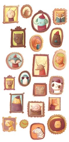 Animal Gallery by Monika Filipina Trzpil, via Behance