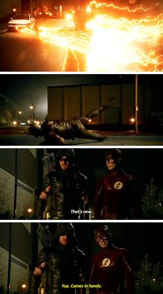 """""""Yup. Comes in Handy"""" - Barry and Oliver #TheFlash"""