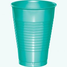 Teal Lagoon Plastic 12oz cup 20ct / Wally's Party Factory #teal #lagoon