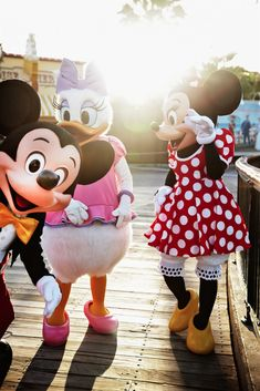 Mickey, Minnie, and Daisy