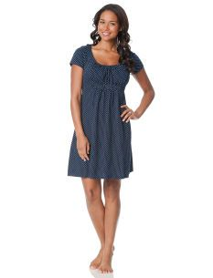 fa8f4b6840 Short Sleeve Scoop Neck Babydoll Night Gown Nursing Mom And Baby Set  19.99  Maternity Shorts