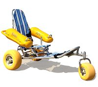 WaterWheels beach wheelchair. >>> See it. Believe it. Do it. Watch thousands of spinal cord injury videos at SPINALpedia.com
