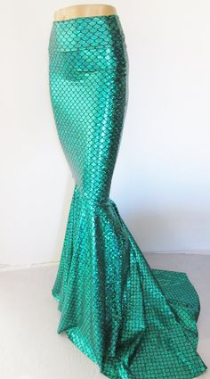 Mermaid SCALE Skirt Fish tail costume by ZanzaDesignsClothing