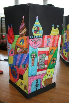 Hundertwasser Haus Laterne Formen Pinterest Lampions