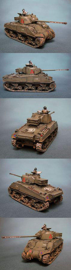 The Internet's largest gallery of painted miniatures, with a large repository of how-to articles on miniature painting Bolt Action Game, Bolt Action Miniatures, Sherman Firefly, Small Soldiers, Rc Tank, Good Looking Cars, Sherman Tank, Model Tanks, Military Modelling