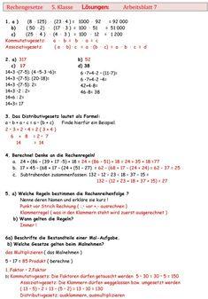 Übungsblatt zu Rechengesetze | math | Math und Education