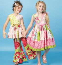 M6497, Children's/Girls' Top, Dress and Pants