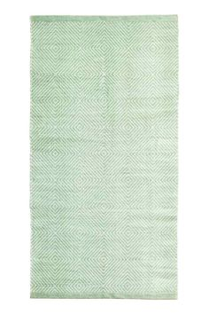 Patterned cotton rug - Light green - Home All | H&M GB 1