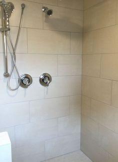 Invoke Sheer Glow 12x24 Wall Tile Installed Horizontal