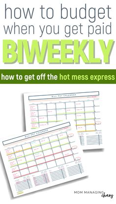 Are you struggling with how to create a monthly budget with biweekly paychecks? It can be challenging to pay bills when you get paid every other week, but with this simple system you can go from budget hot mess to boss level money management. Budgeting Money | Budgeting Finances | How to Budget Your Money | Bi Weekly Budget | Managing Your Money #mommanagingchaos #budget #money