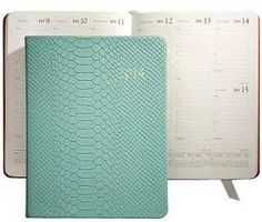 Amazon.com: 2014 Desk Diary 9'' Mint Embossed Python Leather by Graphic Image - 7x9: Camera & Photo