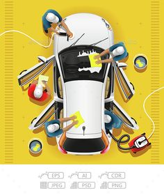Buy Car Clean and Wash by Antonio-BanderAS on GraphicRiver. The team of workers carries out a complex wash and cleaning of the car on car wash Car Cleaning Services, Car Wash Services, Car Wash Business, Mobile Car Wash, Mechanic Garage, Care Logo, Auto Service, Car Images, Small Cars