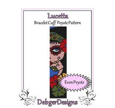 Lucetta- Beaded Peyote Bracelet Cuff Pattern
