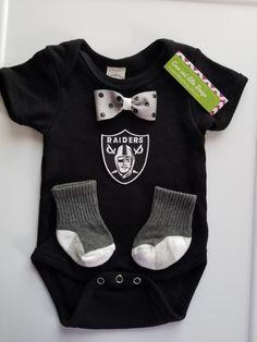 NFL Oakland Raiders onesie-Oakland Raiders baby boy gift-Raiders toddler outfit-Raiders onesie for boy-oakland raiders outfit by CocoandEllieDesign on Etsy