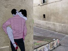 Claire Streetart is a French artist making smashing street art , depicting on the walls of France – as Paris and Montpellier – and Brazil cities the 3d Street Art, Best Street Art, Street Art Graffiti, Street Artists, Wall Street, Banksy, Outdoor Art, Land Art, French Artists