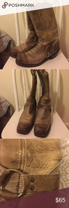 Made in the US Frye harness boots. Made in the US Frye harness boots. Excellent condition. Cute boots for fall. Frye Shoes Heeled Boots