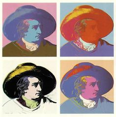 Goethe Pop Art by Andy Warhol