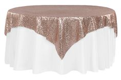 Glitz Sequin Table Overlay Topper Square – Blush/rose Gold - Home Page Bridal Shower Table Decorations, Quince Decorations, Gold Wedding Decorations, Wedding Ideas, Rustic Wedding, Gold Bridal Showers, Gold Baby Showers, Rose Gold Decor, Dream Wedding