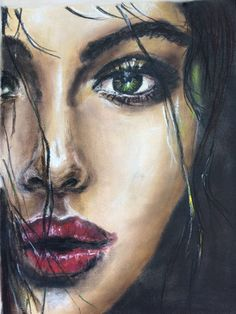 Modern Art Paintings, Eye Art, Beauty Art, Portrait Art, Painting Inspiration, Female Art, Art Pictures, Painting & Drawing, Cool Art