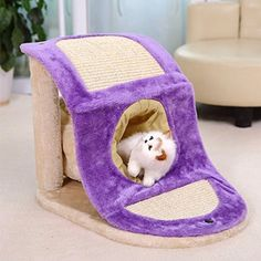 New High Quality Cat Toy Scratching Post with Tunnel Wood Cat Toy Scratching Frame Cat Furniture Scratching Board for Fun >>> To view further for this article, visit the image link. #CatBedsFurniture