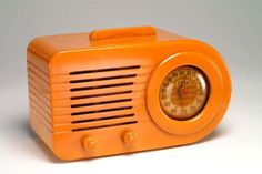 Vintage Fada 1000 Butterscotch Bakelite Radio: working condition. $1,250.00, via Etsy.