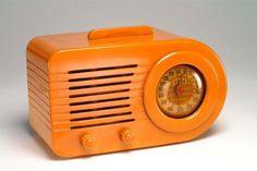 Vintage Fada 1000 Butterscotch Bakelite Radio: working condition. $1,250.00, via Etsy.