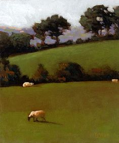 County Down Series #2, 7x6 in, oil on panel. Marc Bohne