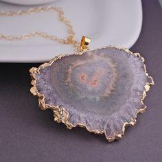 Gold Slice Necklace 1