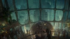 This HD wallpaper is about BioShock, Original wallpaper dimensions is file size is City Wallpaper, Wallpaper Online, Wallpaper Downloads, Iphone Wallpaper, Desktop Wallpapers, 1080p Wallpaper, Bioshock Rapture, Craig Mullins, Hall Painting