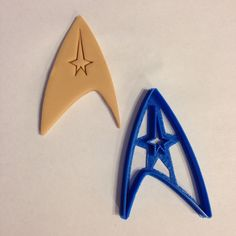 Captains Badge Starfleet Insignia Star Trek Cookie by BoeTech