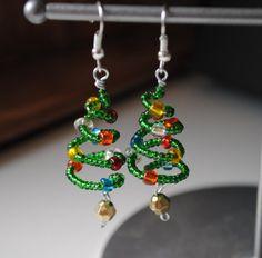 Affitti dell'albero di Natale orecchini gioielli di