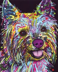Yorkie Art Print at AllPosters.com Would look good in shop
