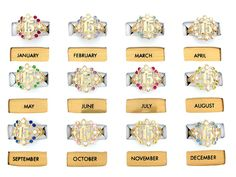 quinceanera jewelry | 10k Gold Yellow CZ 15 Anos Quinceanera Birthstone Ring