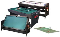 Fat Cat 3 In 1 Pockey Table With Table Tennis